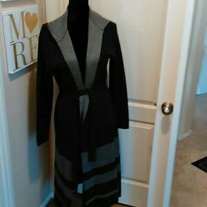 NWT Charcoal Grey NY & Company Duster Sweater L